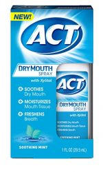 ACT Dry Mouth Spray, 1 oz - Buy Packs and SAVE (Pack of 04)
