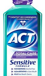 ACT Total Care Anticavity Fluoride Mouthwash, Sensitive Formula Mint, 18 Fluid Oz
