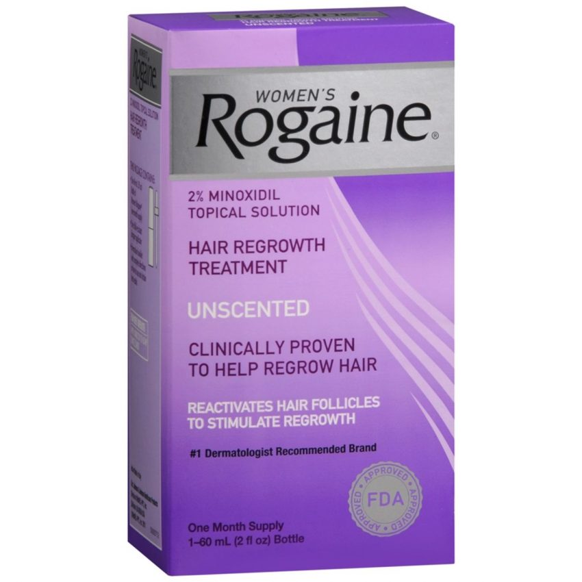 Rogaine Women's Hair Regrowth Treatment Topical Solution Unscented - 2 OZ