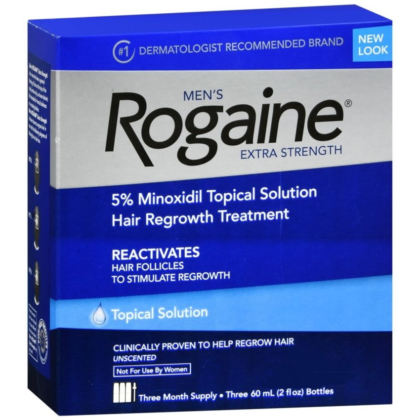 Rogaine Men's Extra Strength Hair Regrowth Treatment Topical Solution Unscented - 6 OZ