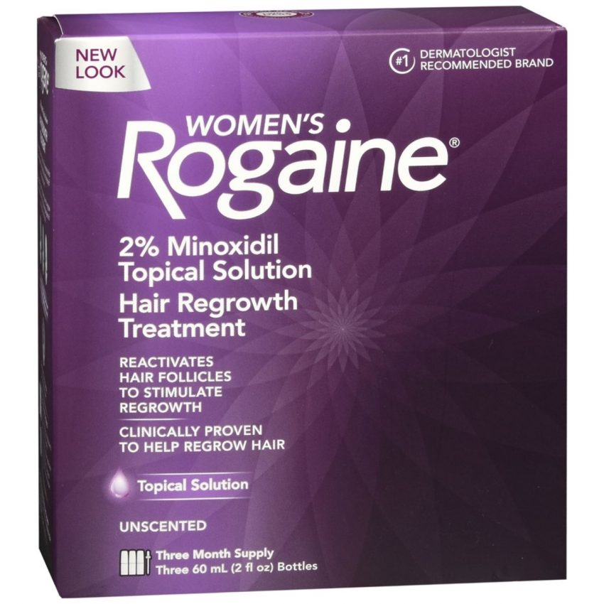 Rogaine Women's Hair Regrowth Treatment Topical Solution Unscented - 6 OZ